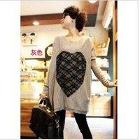 Fasion tunic top/Plus size/pregnant women/lady's long sleeve T shirt