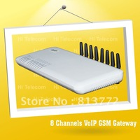 FREE SHIPPING,support SIP and H.323,8 ports gsm voip gateway/GoIP8