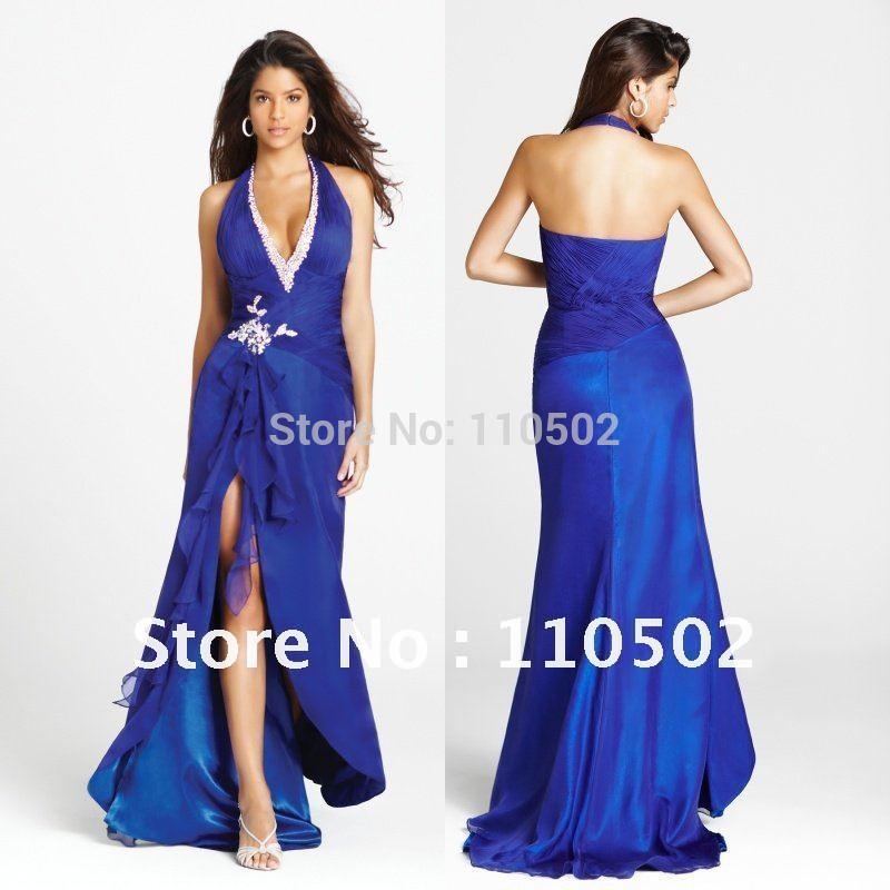 Royal blue short prom dresses 2012