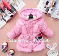 4pcs/lot new arrival ! free shipping winter children Mickey devise greatcoat top quality girls down jacket kid clothes wholesale
