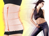 Free Shipping,Women's Body Tummy Trimmer Invisible Slimming Waist Trimmer Belt With Lace Flower