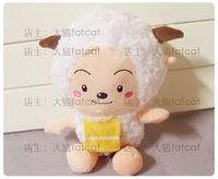 High quality 27cm female goat sheep wool velvet small doll