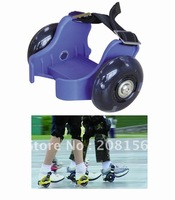 Flash roller 2012 New and Hottest kids roller skate size adjustable by button SH68 blue Free Shipping
