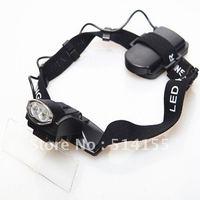 NO.9892C. 2LED Headhand illuminated Magnifier With portable eye Glasses Style Loupe Free Shipping