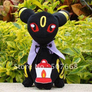 "wholesale Eevee black high quality Pokemon toy Pikachu soft plush doll 12cm 7.1"" month Eevee"