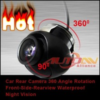 Hot Car CCD Front View Camera Non-Mirror 360 Angle Rotation Waterproof Night vision USA warehouse