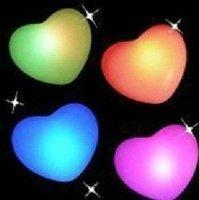 Free Shipping LED Heart-shaped light Colorful lamp LED Romantic night light Christmas Gift