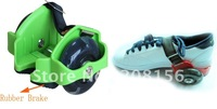 Heelys for kids size adjustment rubber brake safety design  quality assurance SH88D2 Green Free Shipping