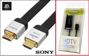 Micro USB to HDMI for HTC EVO 3D Samsung  i9100 MHL Adapter + Black SONY 1.4 Ver. HDMI