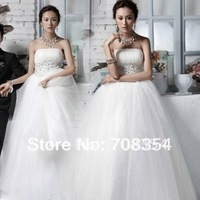 2012 New Arrival Luxury Princess Beading Puff Wedding Dress