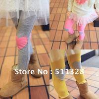 FREE SHIPPING  children clothing children girl leggings love leggings cotton spring and autumn