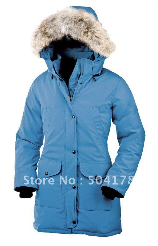 Womens Blue Parka Coat