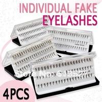 4cases 8/10/12/14mm eyelash extension, artificial eyelash Fake False Eye Lash Eyelashes Free Shipping