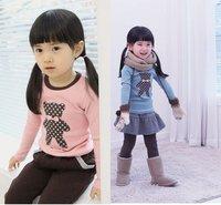 FREE SHIPPING children clothing girl T shirts cotton children girl fashion shirts