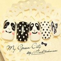 Detonation of lovely panda exports to the United States good quality nail art SMT product false nails