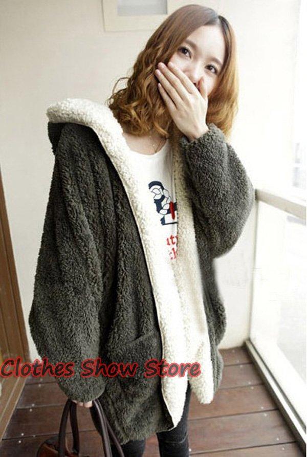 Womens Hooded Sweater Coat