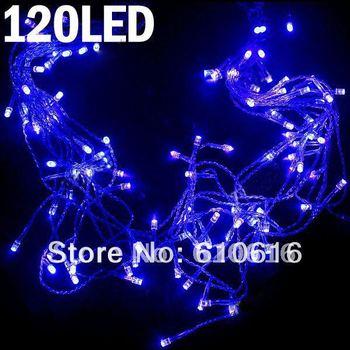 120-LED LED Blue String Light Festival Lamp for Xmas Christmas Halloween Garden Party (3m)