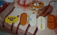 5pcs  Hot sell heat preservation lunch box Rilakkuma Bento Box 16.5*8 cm two designs Wholesale OR Retail Free shipping
