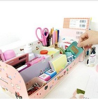 free shipping Desktop storage box lovely creative the DIY Desktop finishing box (animal park) B11