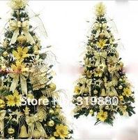 Wholesale Christmas Decoration Christmas tree 1.5 meters set A gold series encryption Christmas tree
