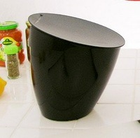 free shipping Fashion mini debris bucket tilt-type flip trash creative desktop trash can storage barrels B24