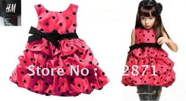 Закупка платьев для наших принцесс!!! 2012-NEW-Cute-Toddler-s-Little-Girl-s-Tiered-Dress-girl-s-princess-dress-Baby-dress