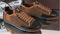 Free shipping !Wholesale!2012 new leather fashion leisure men's shoes/Oxford sneakers/shoes-wj -91