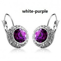 women white glod Platinum plated crystal jewelry sets wedding  9-214
