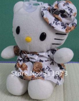 New brand  Stuffed Animals & Plush flowers skirt  Kitty  Plush Doll Toys,cartoon  doll ,car decoration  18cm