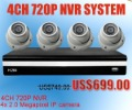 Linux 4CH 720P Network Video Recorder NVR for IP Camera 2 megapixel cameras cctv 30m Day/Night POE Optional
