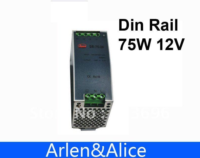75w 12v 6.3a din-schiene einzelne ausgangsschaltelemente netzteil liefert