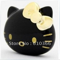DHL Free Shipping 30pcs Hello Kitty MP3 Player 2GB Black White color Good Quality Hot Sell Best Gift