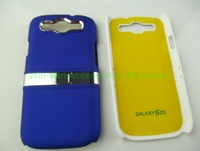 1000pcs/lot Color Mixed Lot Luxury Hard Back Case Cover Chrome Stand For SamSung Galaxy S3 SIII i9300