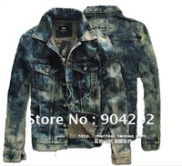 Free shipping!!! NEW 2012 Fashion The Korean version Men's high-grade Pure cotton washed Coat, Locomotive jean Jacket .SAW120
