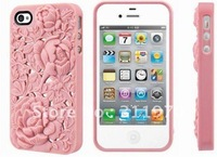 10pcs/lot For iPhone 4S Case Luxury Elegant 3D Sculptural Series Cover For iPhone 4 4s Hard Case For iPhone4G