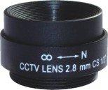 2.8mm cctv camera lens fixed iris monofocal metal free shipping