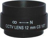 12mm cctv fix iris monofocal metal lens free shipping