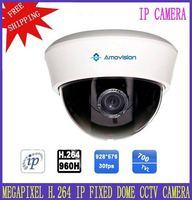 "H.264 IP Fixed Dome CCTV Camera 960H 30fps Housing Indoor 3.6-6mm Fixed Lens 1/3"" SONY Effio CCD Camera 700TVL FreeShipping"