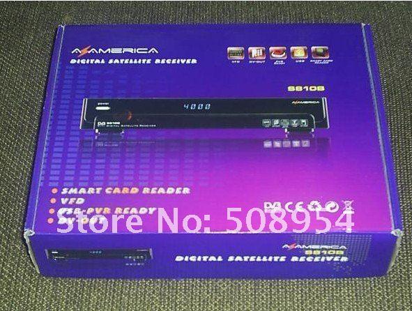 in stock!5pcs/lot South Amercia NTSC Azbox az america s810B (USB+PVR+FTA+Patch+HDMI) For Free shipping(China (Mainland))