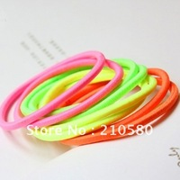Fashion Neon Hair Accessories Candy Color Girl's Hair Multicolour Rubber Band Elastic