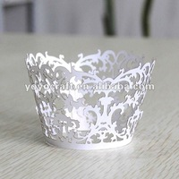 new arrival laser cut flower tree delicate personalized customized disposable paper cupcake wrapper