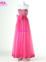 Exquisite High Quality	 A-line  Fashion Sparkle Custom Made Taffeta Off-Shoulder Free Shipping Evening Dress& Prom Dress