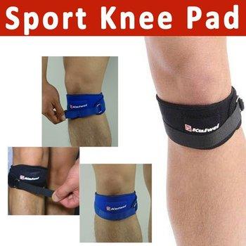 2pcs/lot Sport Elastic Knee Pad rubber knee Patella protector brace Kneepad Kneecap blue black free shipping