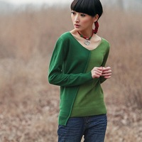 fashion RIP 2012 spring color block decoration long-sleeve sweater 21160057 for women