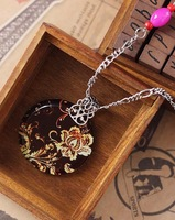 Fashion Necklace DS-71487,  Fashion Pendant Alloy + Acrylic + Copper Necklace,10pcs/lot,Free Shipping