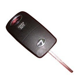 Super 3 Buttons Flip Remote Key Shell for Lexus