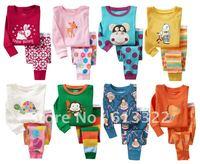 Hot Pajamas suits Baby Sleepwear suits Shirts ,pants Kids long sleeve Underwears sets baby Toddler's Nightwear suit