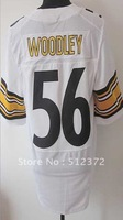 Free Shipping!!! 2012 new style #56 Lamarr Woodley 2012 new White jersey