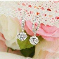 Min.order is $15 (mix order)2013 Rhinestone earring,elegant zirconium pendant earrings,silver plated drop earrings,Free shipping