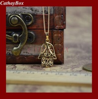 18KGP Gold Plated Islam Hamsa Hand of Fatima Charm Pendant Necklace W/ Chain Gift For Muslim